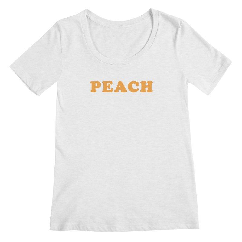 PEACH Women's Scoopneck by Sand Kastles Apparel
