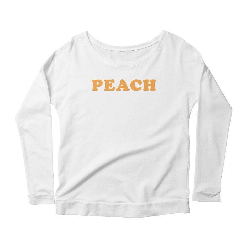 PEACH Women's Longsleeve Scoopneck  by Sand Kastles Apparel