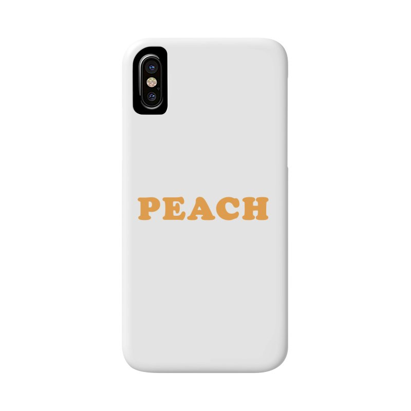 PEACH Accessories Phone Case by Sand Kastles Apparel