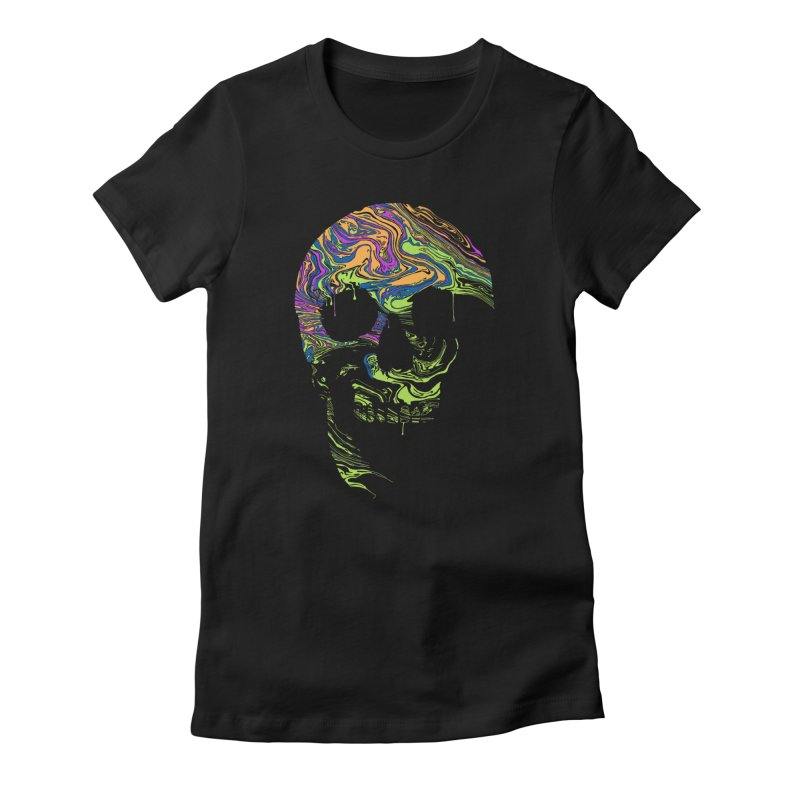 Liquid Death Women's Fitted T-Shirt by Sand Kastles Apparel