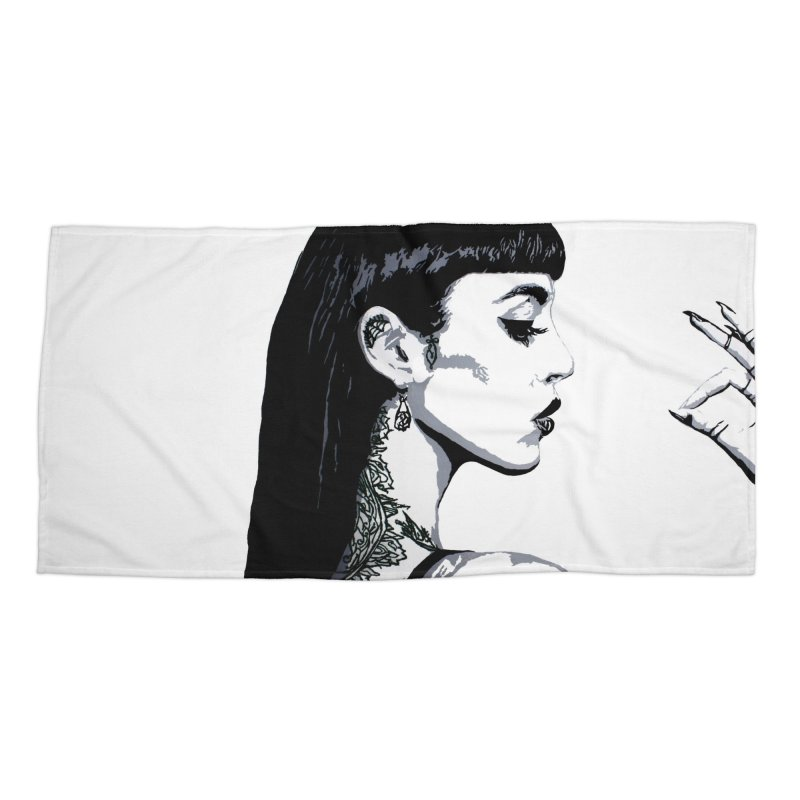Embroidered Tattoo Collection #14 Accessories Beach Towel by SarahMichelle's Artist Shop