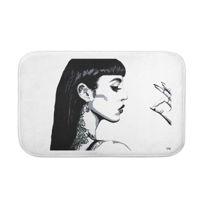 Embroidered Tattoo Collection #14 Home Bath Mat by SarahMichelle's Artist Shop