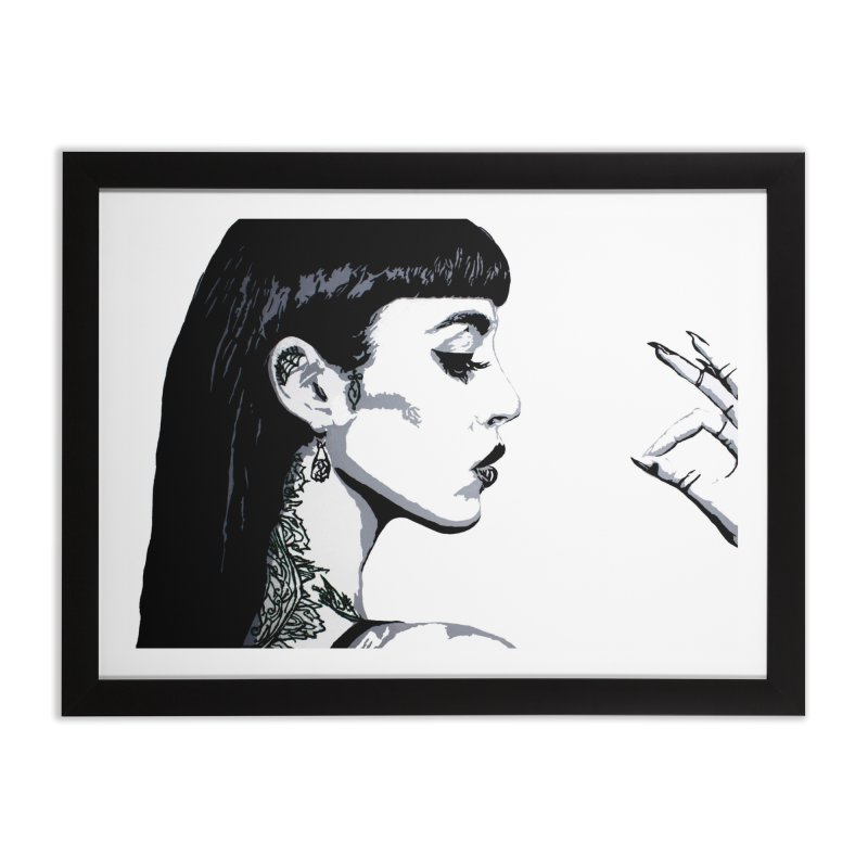 Embroidered Tattoo Collection #14 Home Framed Fine Art Print by SarahMichelle's Artist Shop
