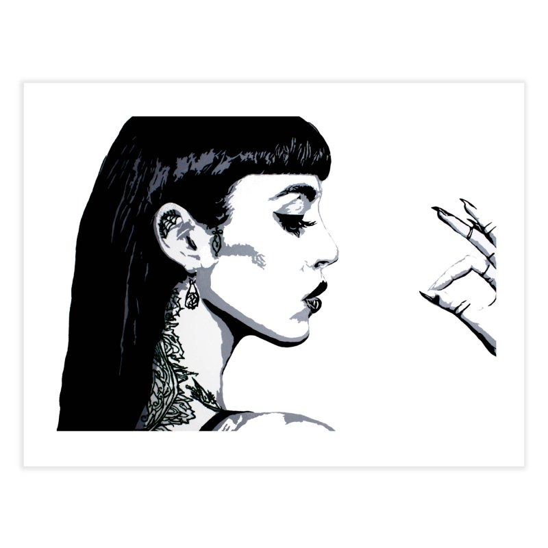Embroidered Tattoo Collection #14 Home Fine Art Print by SarahMichelle's Artist Shop