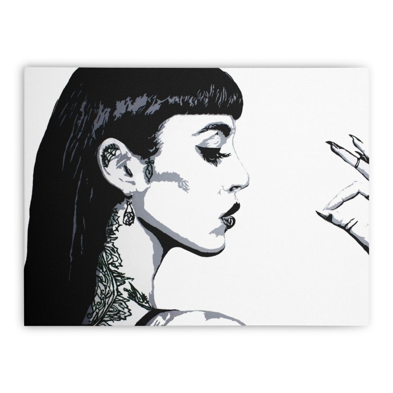 Embroidered Tattoo Collection #14 Home Stretched Canvas by SarahMichelle's Artist Shop