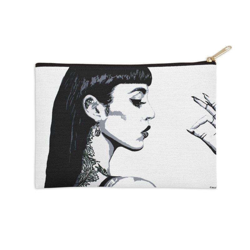 Embroidered Tattoo Collection #14 Accessories Zip Pouch by SarahMichelle's Artist Shop
