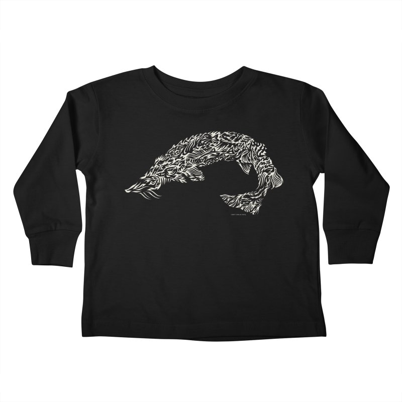 Sturgeon Kids Toddler Longsleeve T-Shirt by Sarah K Waite Illustration