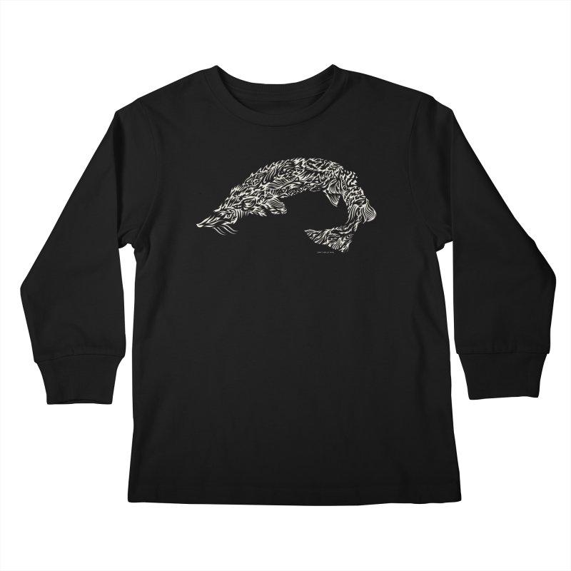 Sturgeon Kids Longsleeve T-Shirt by Sarah K Waite Illustration
