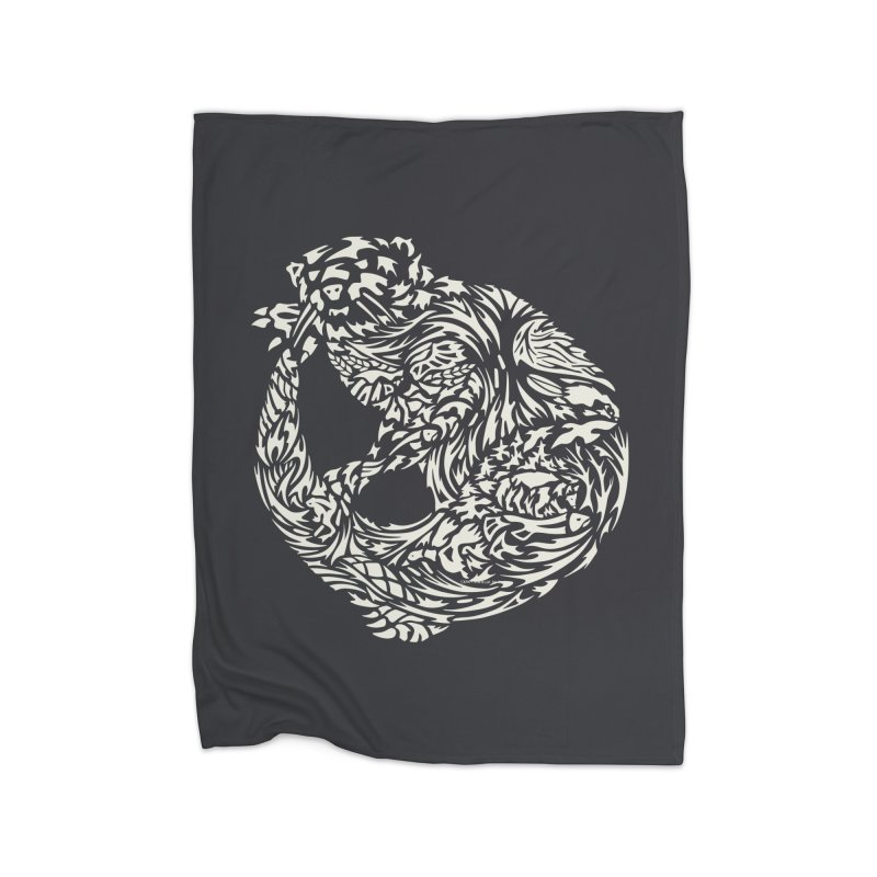 Otter Home Blanket by Sarah K Waite Illustration