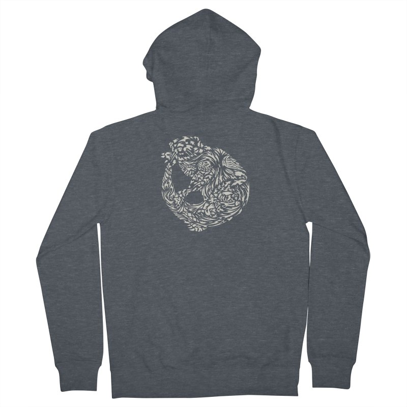 Otter Women's French Terry Zip-Up Hoody by Sarah K Waite Illustration