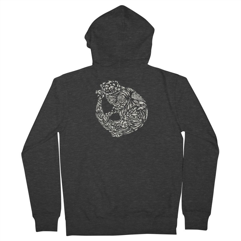 Otter Men's French Terry Zip-Up Hoody by Sarah K Waite Illustration