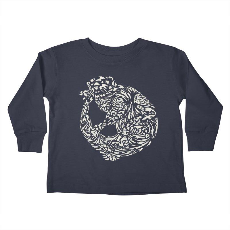 Otter Kids Toddler Longsleeve T-Shirt by Sarah K Waite Illustration