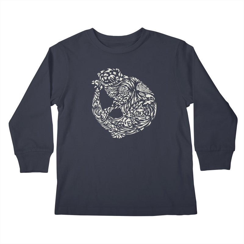 Otter Kids Longsleeve T-Shirt by Sarah K Waite Illustration