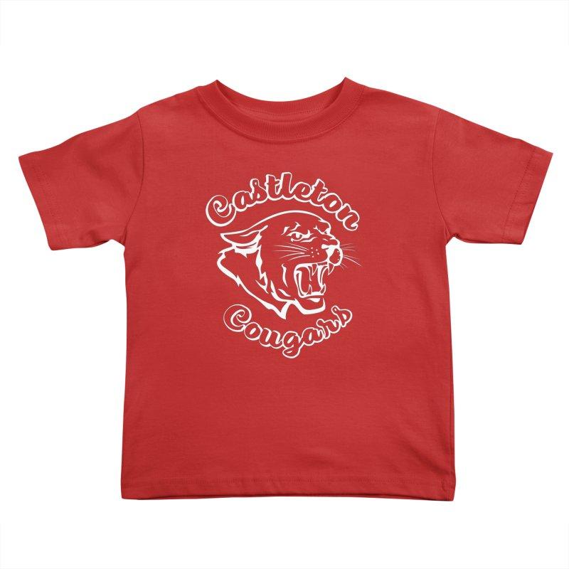 Castleton Cougars Kids Toddler T-Shirt by Sarah K Waite Illustration