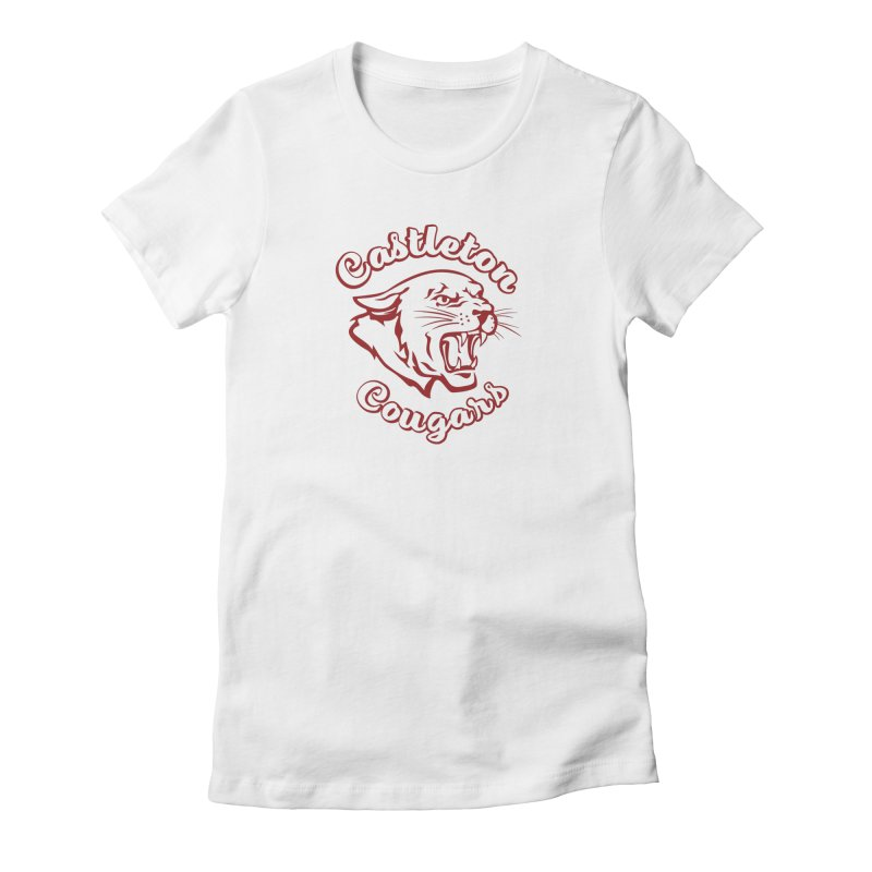 Castleton Cougar in Red Women's T-Shirt by Sarah K Waite Illustration