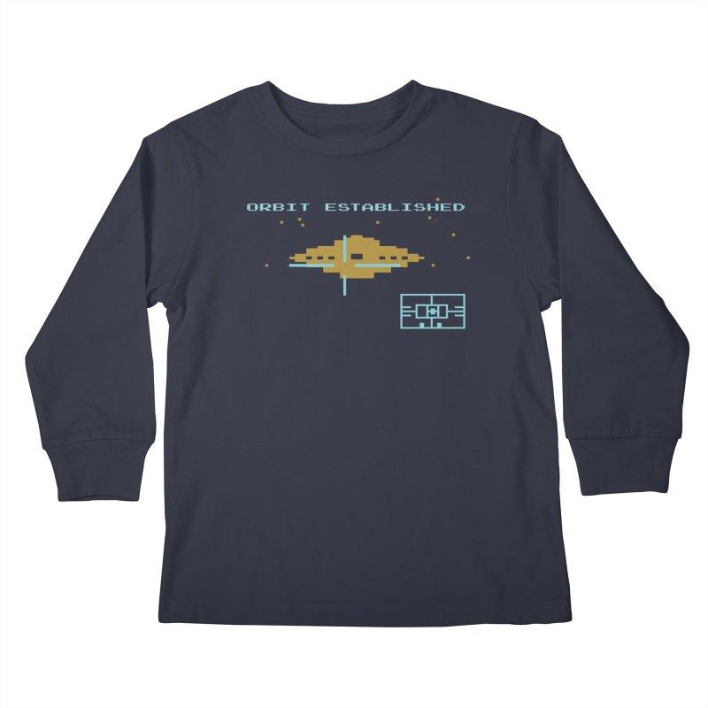 Star Raider Tribute Kids Longsleeve T-Shirt by Sarah K Waite Illustration