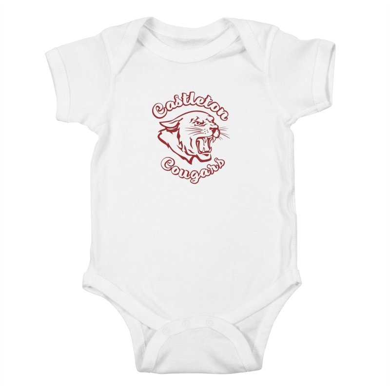 Castleton Cougar Kids Kids Baby Bodysuit by Sarah K Waite Illustration