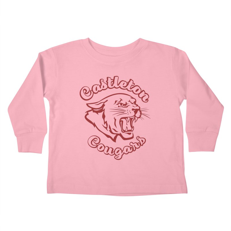 Castleton Cougar Kids Kids Toddler Longsleeve T-Shirt by Sarah K Waite Illustration