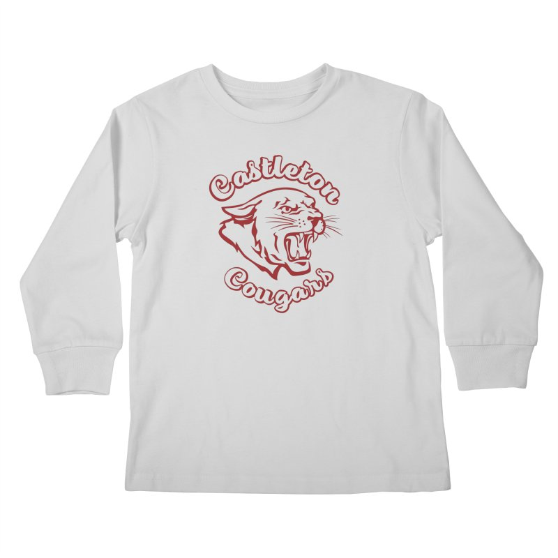 Castleton Cougar Kids Kids Longsleeve T-Shirt by Sarah K Waite Illustration