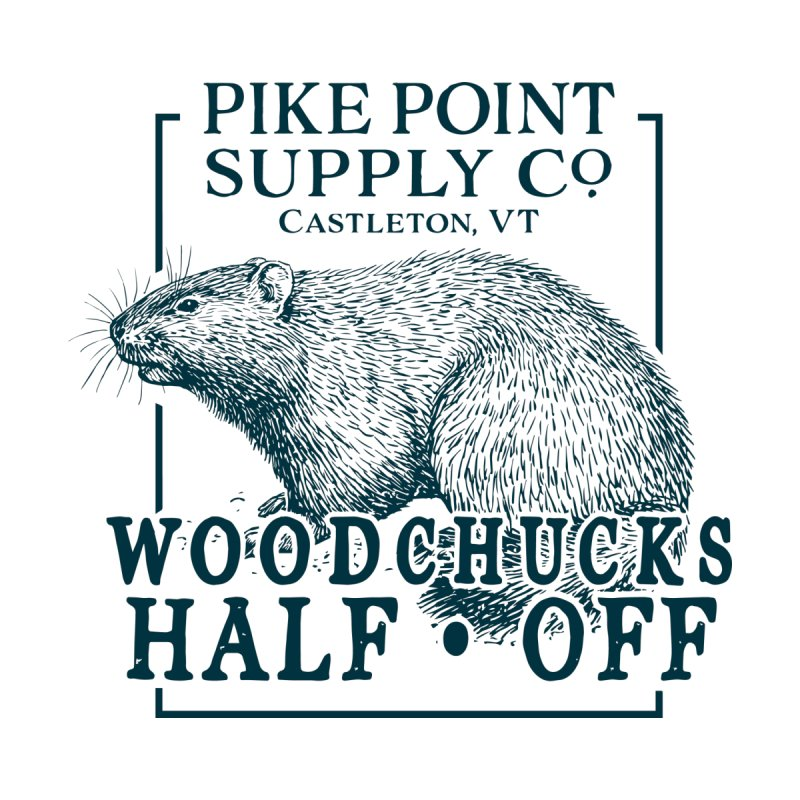 Pike Point Woodchuck Sale Men's T-Shirt by Sarah K Waite Illustration