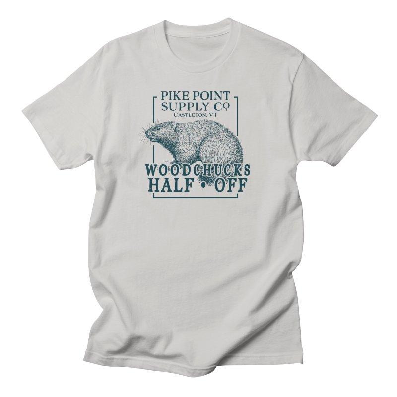 Pike Point Woodchuck Sale Men's T-Shirt by Sarah K Waite Illustration
