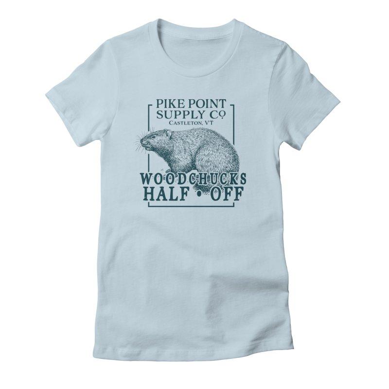 Pike Point Woodchuck Sale Women's T-Shirt by Sarah K Waite Illustration