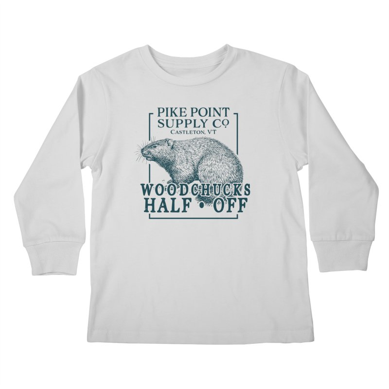 Pike Point Woodchuck Sale Kids Longsleeve T-Shirt by Sarah K Waite Illustration