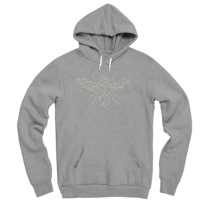 Honey Bee Men's Sponge Fleece Pullover Hoody by Sarah K Waite Illustration