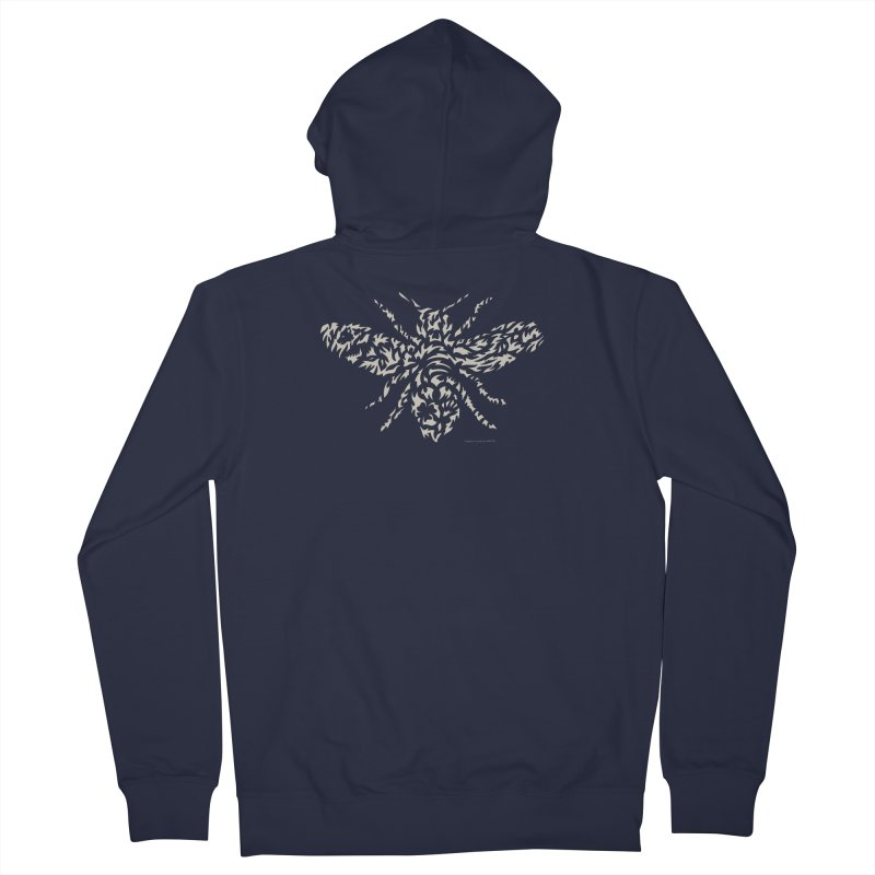 Honey Bee Women's French Terry Zip-Up Hoody by Sarah K Waite Illustration