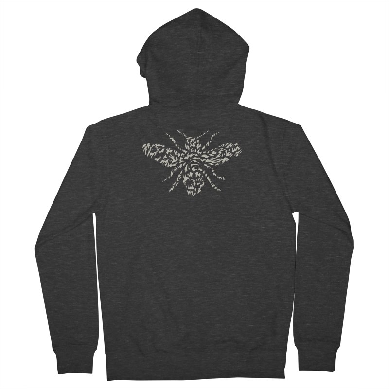 Honey Bee Men's French Terry Zip-Up Hoody by Sarah K Waite Illustration