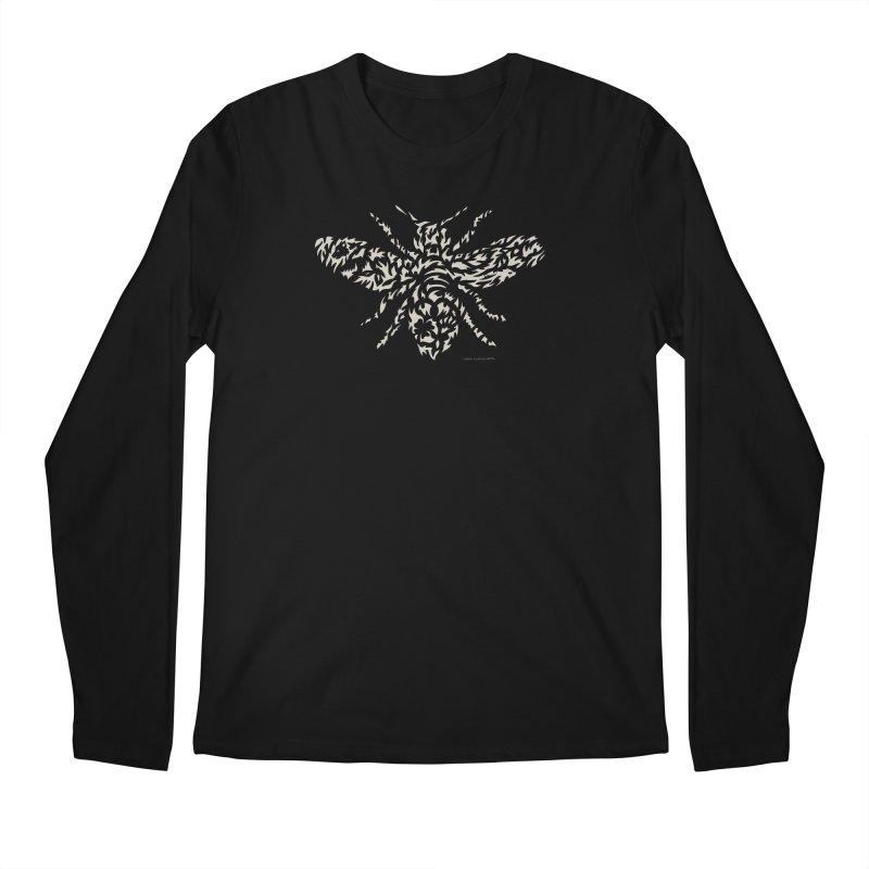 Honey Bee Men's Regular Longsleeve T-Shirt by Sarah K Waite Illustration