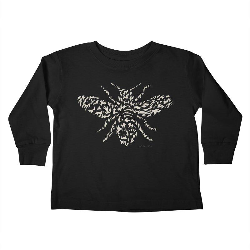 Honey Bee Kids Toddler Longsleeve T-Shirt by Sarah K Waite Illustration