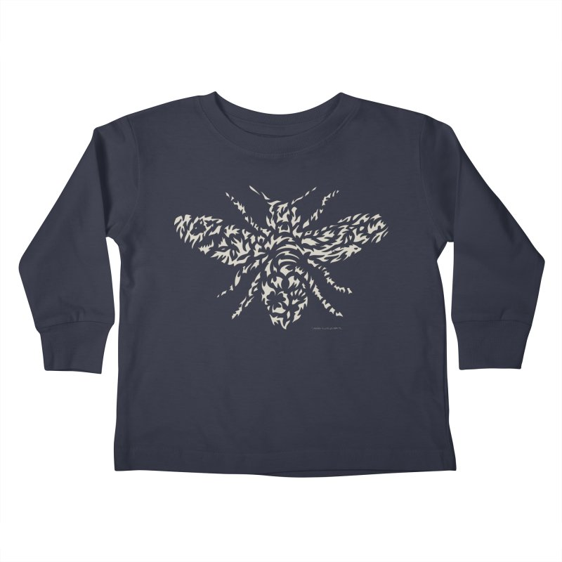 Honey Bee Kids Toddler Longsleeve T-Shirt by Sarah K Waite Illustration