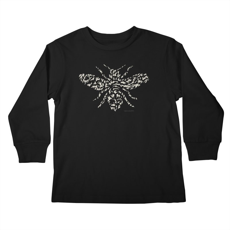 Honey Bee Kids Longsleeve T-Shirt by Sarah K Waite Illustration