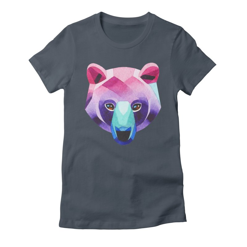 Bear Women's Fitted T-Shirt by Sashaunisex's Shop