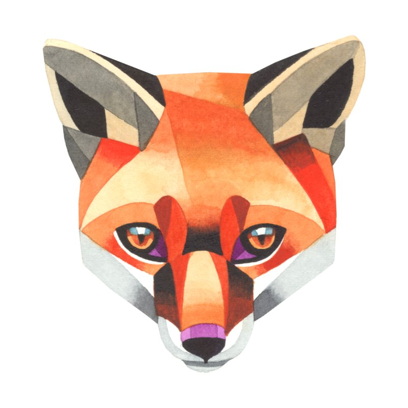 Red fox by Sashaunisex's Shop