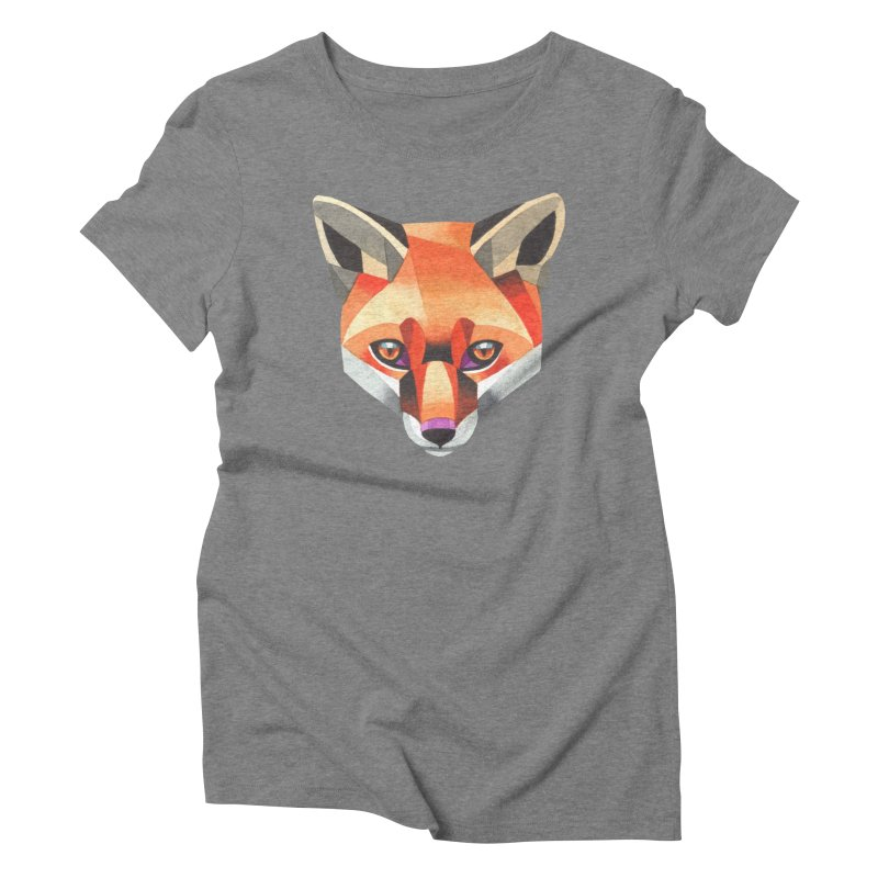 Red fox Women's Triblend T-Shirt by Sashaunisex's Shop