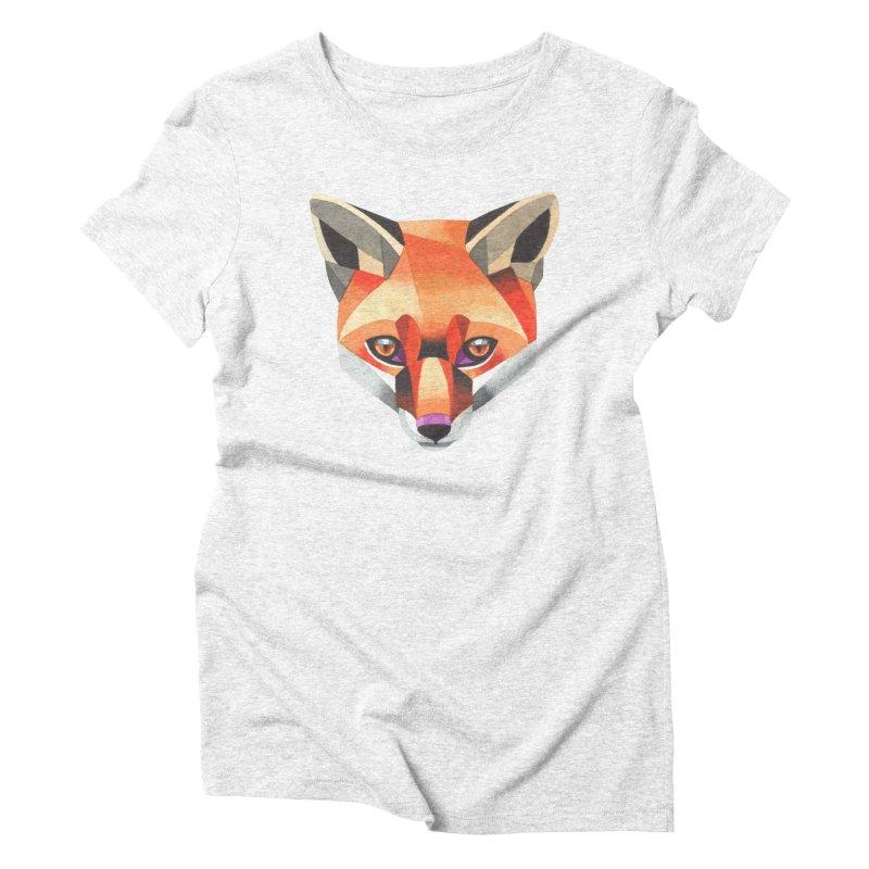 Red fox Women's Triblend T-shirt by Sashaunisex's Shop