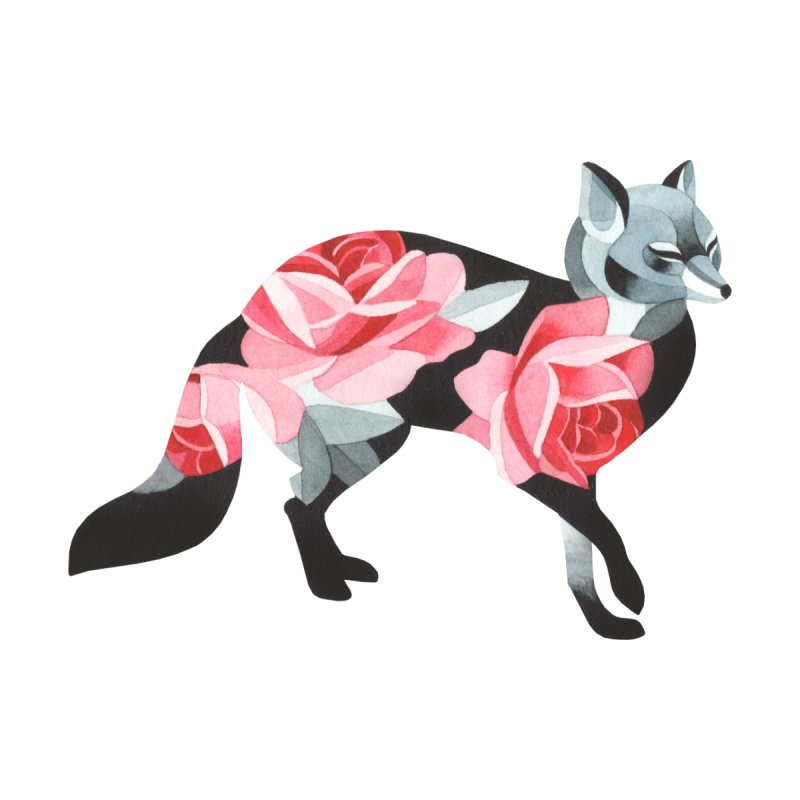Rose fox by Sashaunisex's Shop