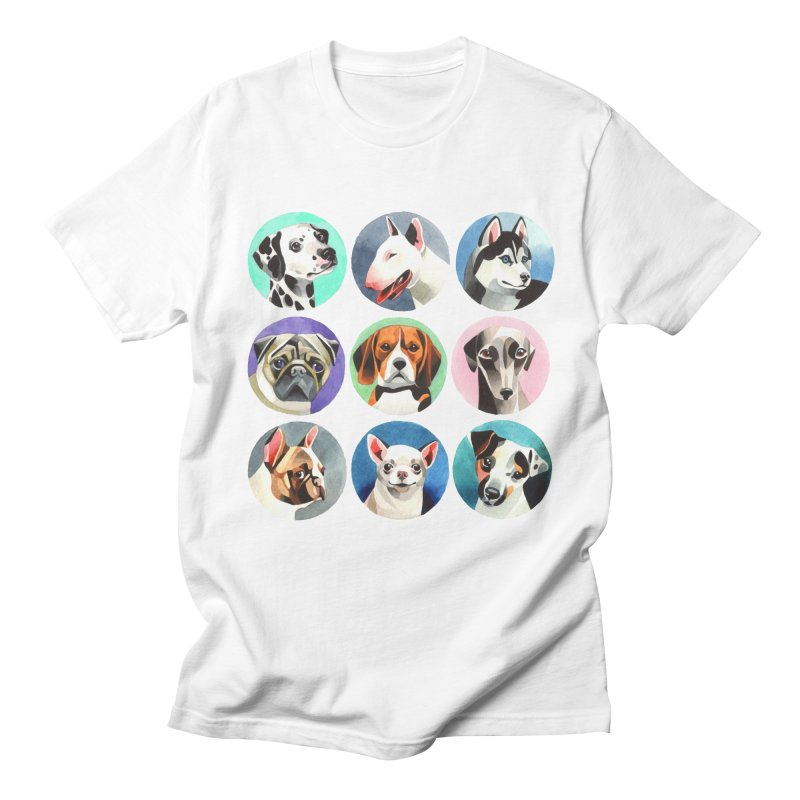 Dogs Men's T-shirt by Sashaunisex's Shop