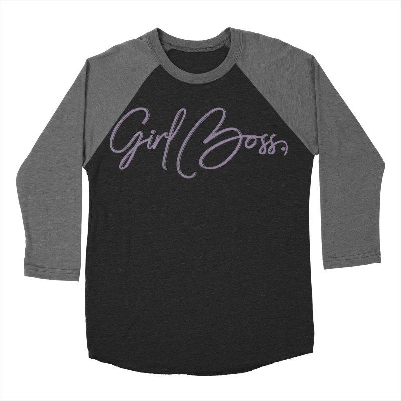 Girl Boss Women's Baseball Triblend Longsleeve T-Shirt by Say The F Word