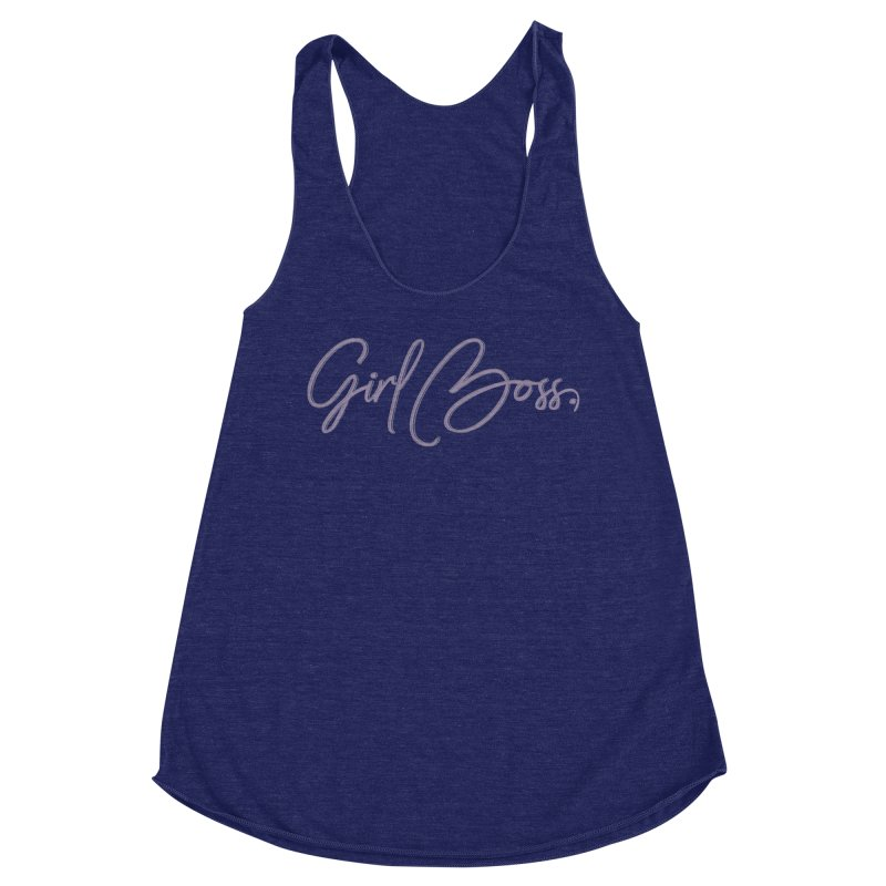 Girl Boss Women's Racerback Triblend Tank by Say The F Word