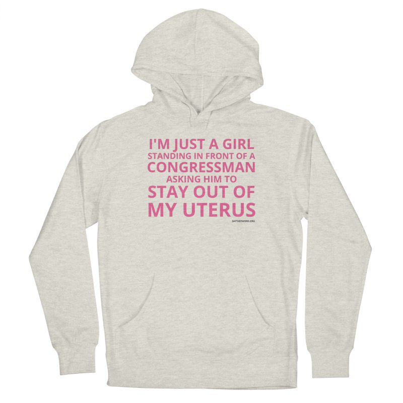 Dear Congress, With Love. Women's French Terry Pullover Hoody by Say The F Word