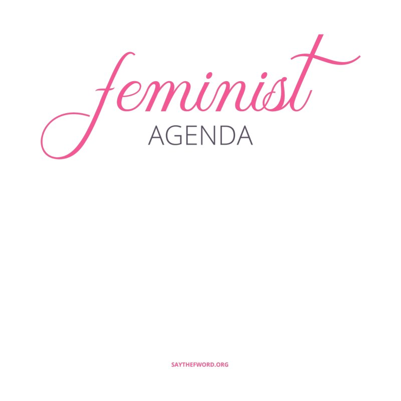 Feminist Agenda Accessories Notebook by Say The F Word