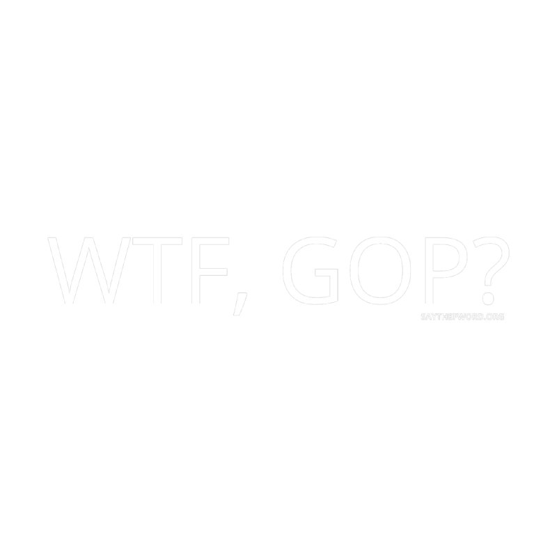 WTF, GOP? Women's V-Neck by Say The F Word