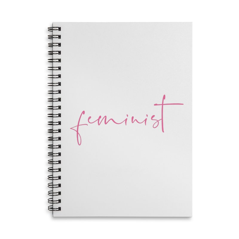 Feminist Accessories Lined Spiral Notebook by Say The F Word