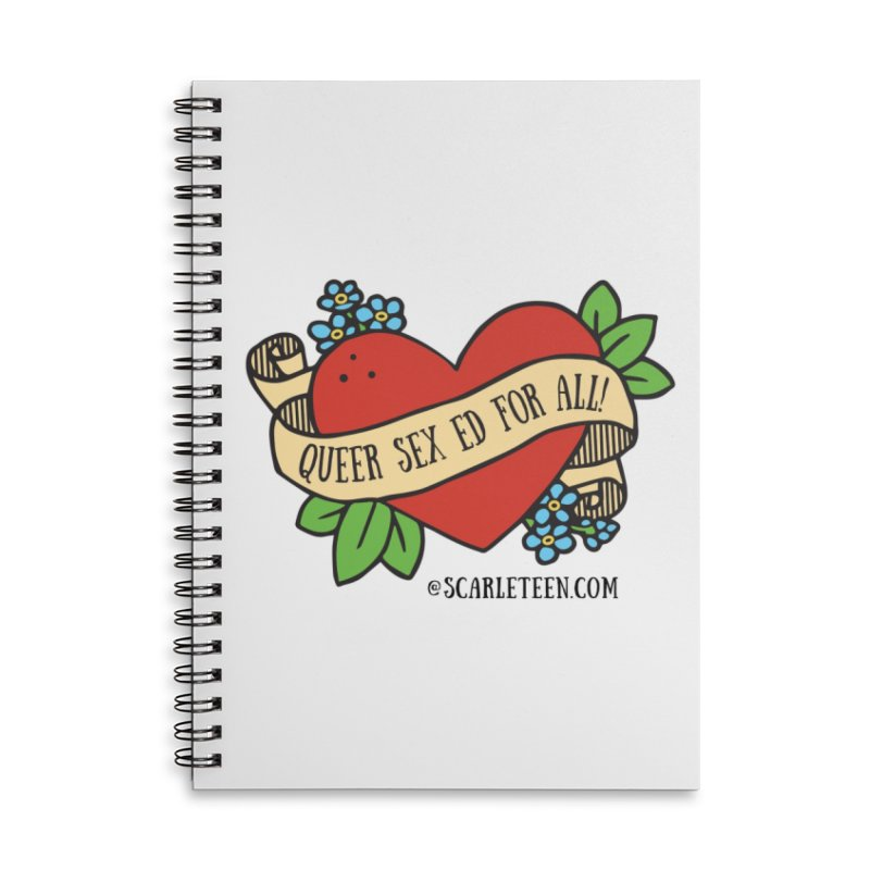 Queer Sex Ed For All! Accessories Notebook by Scarleteen's Threadless Shop