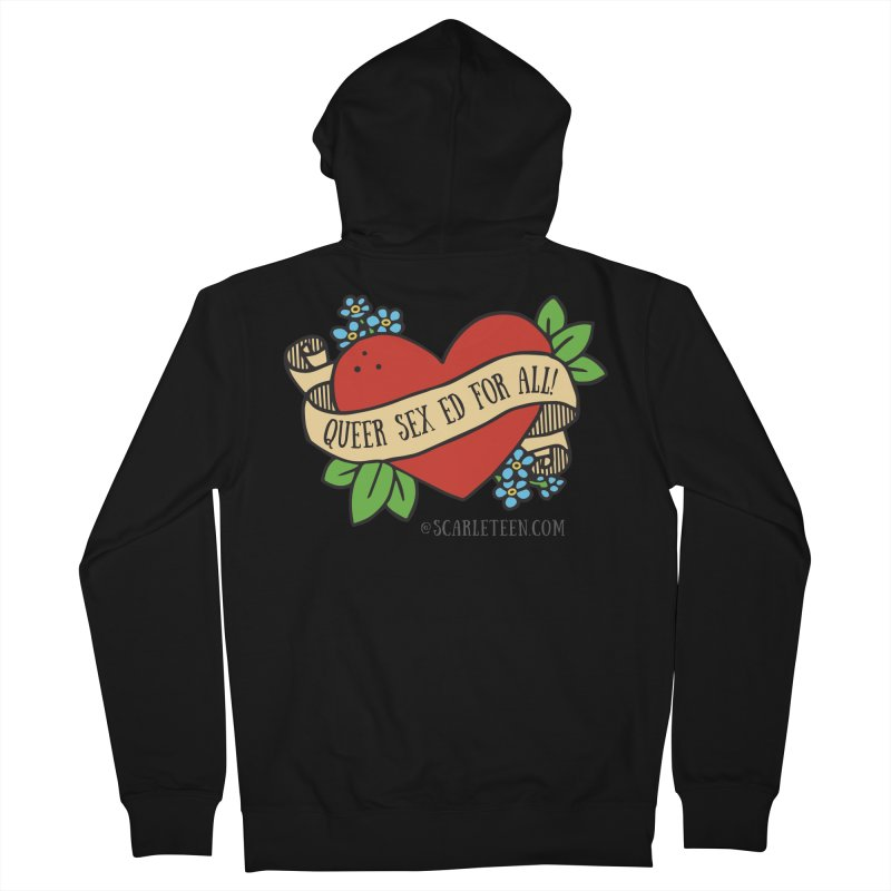 Queer Sex Ed For All! Men's Zip-Up Hoody by Scarleteen's Threadless Shop