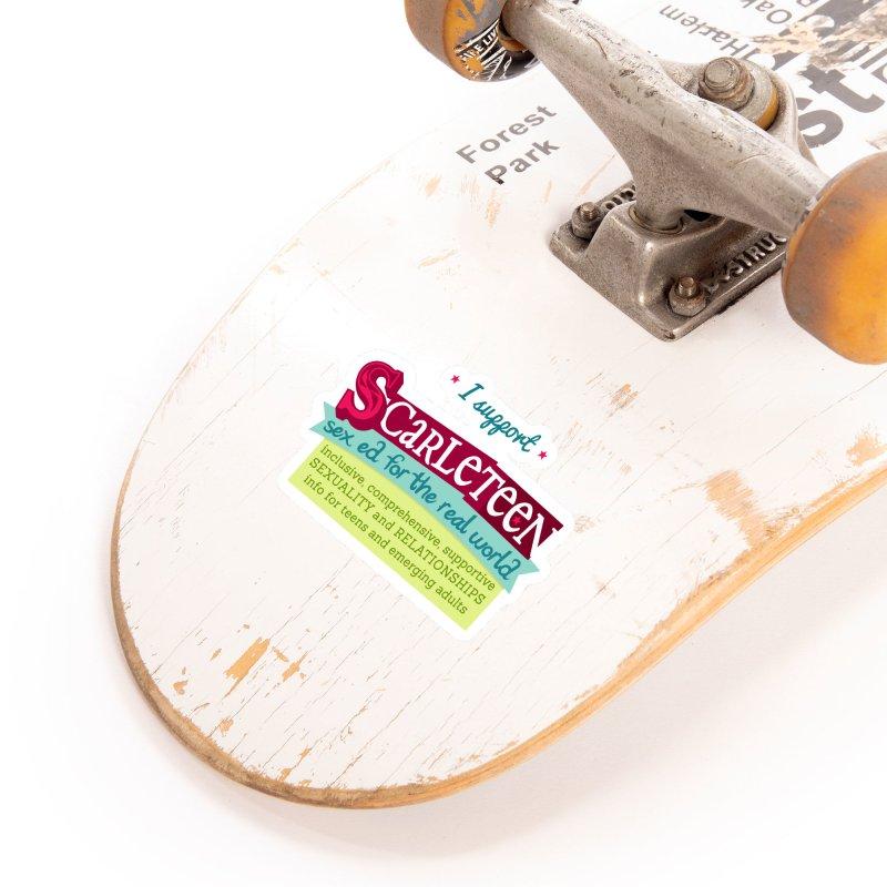 I Support Scarleteen Accessories Sticker by Scarleteen's Threadless Shop