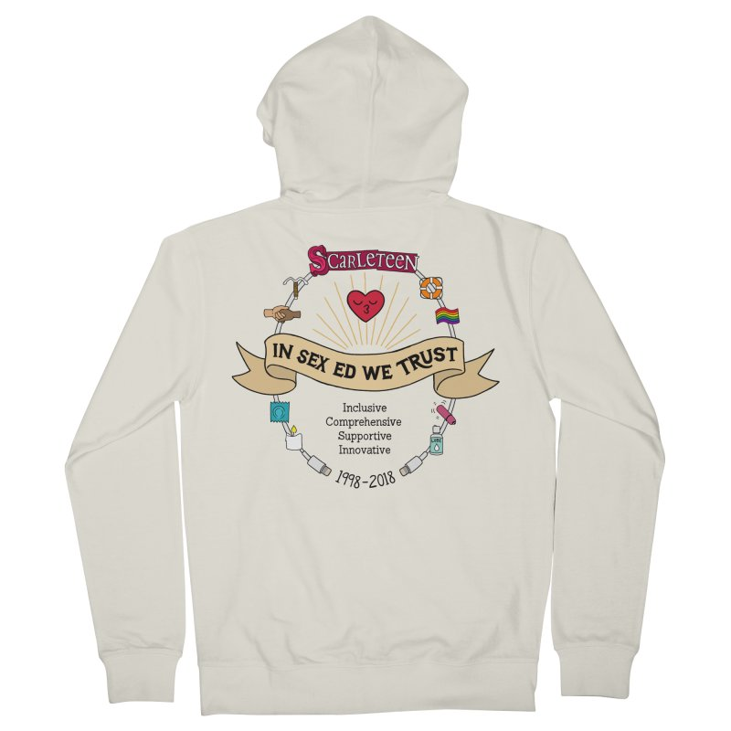 In Sex Ed We Trust Men's Zip-Up Hoody by Scarleteen's Threadless Shop